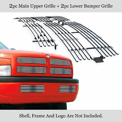 $101 • Buy Fits Dodge Ram Pickup Stainless Billet Grille Combo 94-01