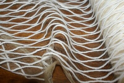 £5.45 • Buy 50cm X 1.4m 'EMBROIDED & DAINTY CHANTILLY' CREAM LACE Fabric, Sewing Material