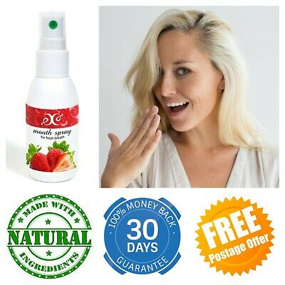 Breath Freshener NATURAL Mouth Spray With PROPOLIS Antibacterial Fresh & Fruity • 5.99£