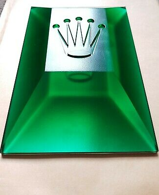 Rolex Crown Display Green Plexiglass Also Could Be Used As Paperweight *1 • 165£