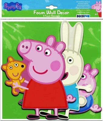 Peppa Pig 3D Foam Wall Kids Art Decal/Decor Stickers For Bedroom Home Nursery • 3.75£