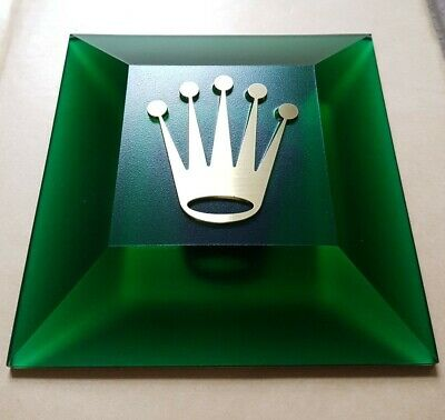 Rolex Gold Crown Display Green Plexiglass Also Could Be Used As Paperweight *4 • 285£