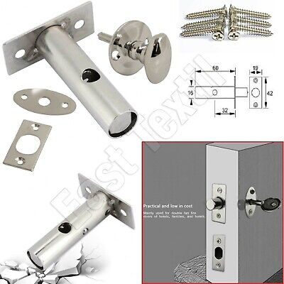 Eurospec Security Door Rack Bolt 60mm Dead Lock Bolts /& Star Key 2 Pack