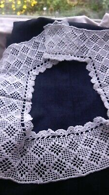 Vintage  Crochet Lace Insertion Or Trim  Surround For Insertion With Fabric • 2£
