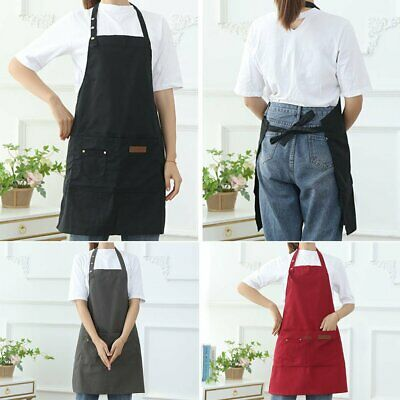 $9.52 • Buy Waterproof Canvas Apron W/ Pockets Kitchen Chef Cooking BBQ Apron For Women Men