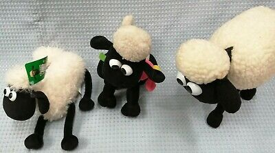 Set Of Shaun The Sheep Plush Soft Toys - Talking - Wallace And Gromit #120 • 10.50£