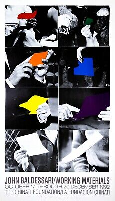 John Baldessari: Two Unfinished Letters Posters, 1992. Vintage Exhibition Poster • 486.64£