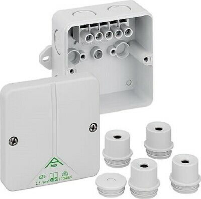 Weatherproof Junction Box Outdoor IP65 Electrical Cable Enclosure External Lugs • 5£