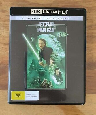 AU17.95 • Buy Star Wars: Episode VI - Return Of The Jedi 4K - 3 Disc UltraHD Blu-ray - AS NEW