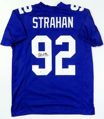 $ CDN224.32 • Buy Michael Strahan Autographed Blue Pro Style Jersey - Beckett W Auth *9