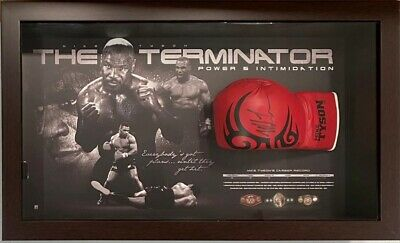 AU799 • Buy MIKE TYSON Autograph Signed Boxing Glove FRAMED COA Photo Proof Authentic