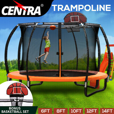 AU339.99 • Buy Centra Trampoline Round Trampolines Kids Enclosure Safety Net 6 8 10 12 14FT
