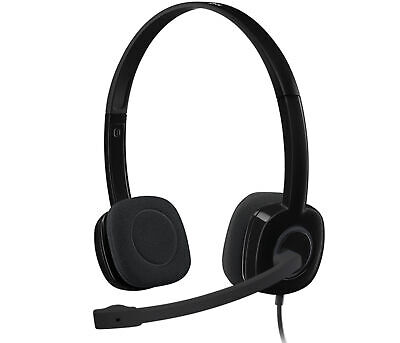 AU40.90 • Buy Logitech Wired 1.8M Over-Ear Gaming Headphone Headset H151 Stereo With Mic