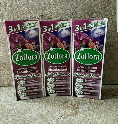 3x 120ml Zoflora Midnight Bloom • 7£