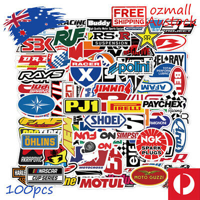 AU9.95 • Buy 100pcs  Racing Car Stickers Bomb JDM Drift Vinyl Decal Matte Serface Logo