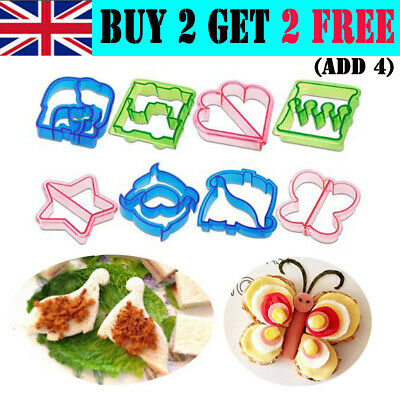 Sandwich Cutters Cute Mold Crust Toast Cookie Baking Bread Kids Lunch Maker DIY • 3.99£