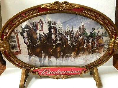 $ CDN65.75 • Buy Rare Budweiser Beer Sign Wall Display Bubble Clydesdale Team 2000 Vintage A9
