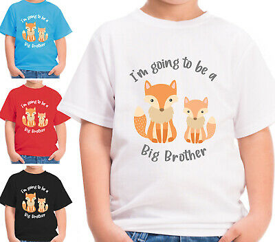 Im Going To Be A Big Brother T-Shirt Boys Announcement Fox Tshirt Childrens Gift • 8.99£
