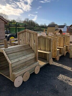 The Carriageway Train Treated En1176. Nursery Commercial Play Unit Set Kids • 1,395£