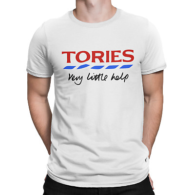Tories Very Little Help UK Political Party Government Slogan T Shirt Protest • 6.95£