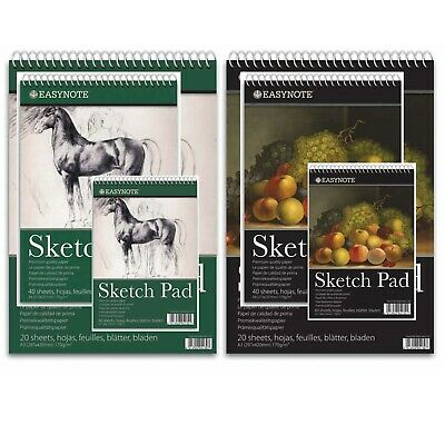 £4.99 • Buy A3 A4 A5 Sketch Pad Spiral Book White Paper Artist Sketching Drawing Premium