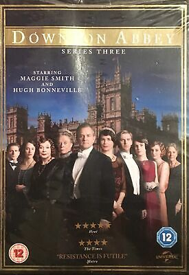 Downton Abbey Series Three - Maggie Smith / Hugh Bonneville - New Sealed DVD. • 5£
