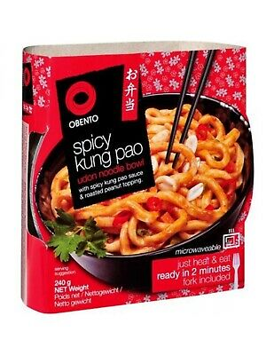AU18.95 • Buy Obento Spicy Kung Pao Udon Noodle Bowl 240gm X 6
