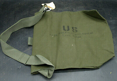 $19.95 • Buy Nos Unissued Vtg Us Military Army M25a1 Field Protective Gas Mask Bag Only (g5)
