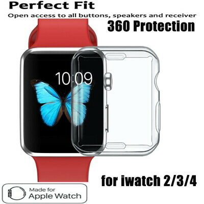 AU5.49 • Buy For Apple Watch 6 5 4 3 2 Soft Silicon Full Protective Screen TPU Case 44/42/40/