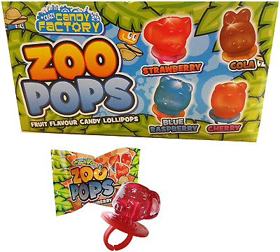 £10.58 • Buy Zoo Pops 24 X Fruity Animal Mini Lolly Sweets Lollies With Rings - Wholesale Buy
