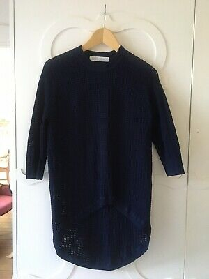 AU40 • Buy Scanlan & Theodore Crepe Knit Top - Size M Navy