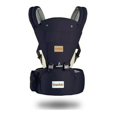 Baby Carrier With Hip Seat And Adjustable Shoulder Strap 0-36 Months Navy • 3.50£