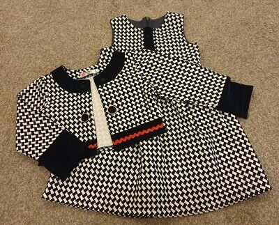 Girls Dress And Jacket Set. Autumn Clothes. 6 Years. Boutique Brand  • 3£