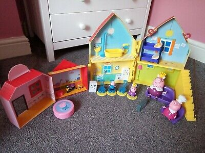 Peppa Pig House Cafe And Toy Room Accessories Figures Toyset Daddy Mummy George  • 10£