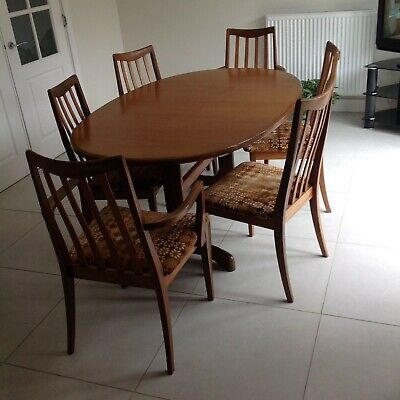 Vintage G Plan Fresco Extending  Dining Table  & 6 Chairs • 50£