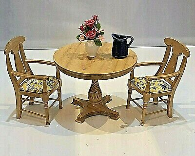 Dolls House 1/12 Kitchen Dining Room Conservatory Breakfast Table & Chairs F723 • 5.50£