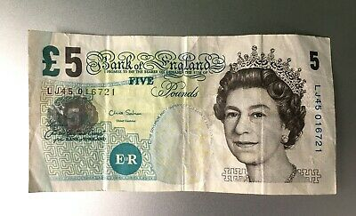 Bank Of England Old 5 Pound Note (£5) - Chris Salmon - Elizabeth Fry • 5£