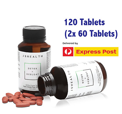 AU89.95 • Buy JSHEALTH DETOX + DEBLOAT  120 Tablets (2x 60 TABLETS) JS HEALTH EXPRESS POST!!