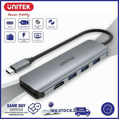 AU39.95 • Buy USB-C Type C Notebook Hub HDMI/USB/Card Reader Port Dock Adapter For Laptop PC
