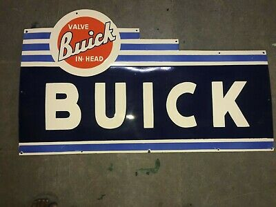 $ CDN28.41 • Buy Porcelain Buick Enamel Sign Size 48  X 28.5 Inches Double Sided Pre-Owned