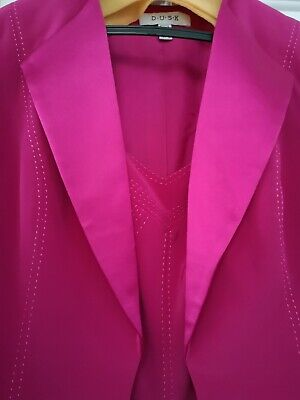 D.U.S.K Dress And Jacket In Cerise Pink Size 12  Party - Christmas - Weddings  • 25£