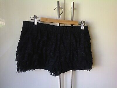 Black Lace Mini Shorts. Size UK Small. Zara. Worn Once • 5.50£