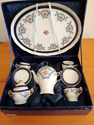 MINIATURE TEASET Coffee REGAL BONE CHINA COLLECTION Guilded.  • 10£