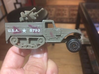 $9 • Buy Diecast M3 Armored Half Track, With Twin .50 Calibers By Zylmex Great Used Shape