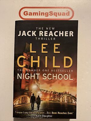 Night School, Lee Child PB Book, Supplied By Gaming Squad • 4.50£