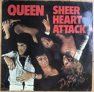 "Queen - Sheer Heart Attack 12"" Vinyl LP Rock 1974 EMC3061/YAX48814U • 14.99£"