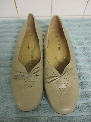 Womens Ladies Orthopedic Broad Tread Arch Support Shoes  Size 8 Beige  • 4.99£