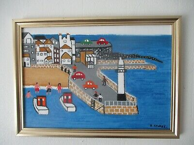 St Ives Cornwall Northern Art Framed Oil Painting • 20£