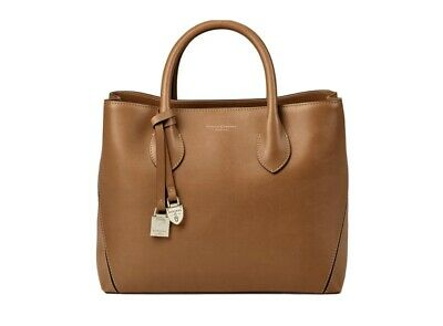 ASPINAL OF LONDON Women's Tan Smooth Midi London Grab Tote Bag Handbag NEW £550 • 159£
