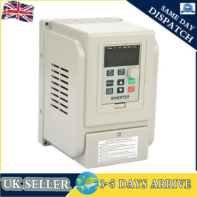 2.2KW AC220V Single To 3 Phase Motor Variable Frequency Drive Inverter Converter • 67.99£